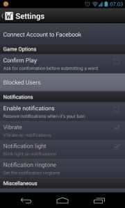 Bloker bruger i Wordfeud